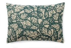 love this teal/oatmeal pillow