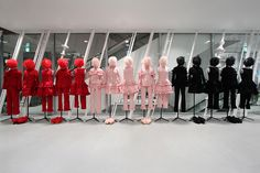 "DOVER STREET MARKET, Ginza,Tokyo,Japan, ""RED:Passion, PINK:Romance, BLACK: Sophistication, pinned by Ton van der Veer"