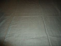 """Vintage 100% Wool Heather Gray Plaid/Square Scrap Fabric/Material.  136"""" X 41""""…"""