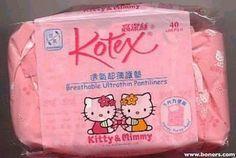 Hello Kitty Kotex Pantyliners #weirdhellokitty