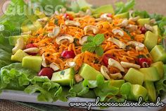 Receita de Salada de Cenoura Refrescante