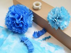 The Yuppie Lifestyle: Tissue Paper Pom-Poms for Gift Packaging