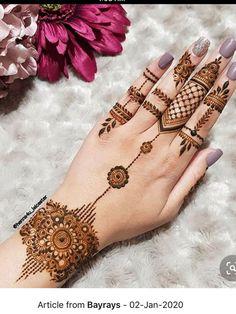 Henna Hand Designs, Simple Mehndi Designs Fingers, Pretty Henna Designs, Modern Henna Designs, Henna Tattoo Designs Simple, Mehndi Designs For Beginners, Mehndi Designs For Girls, Mehndi Design Photos, Latest Mehndi Designs