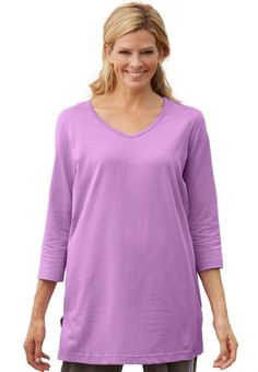 BESTSELLER! Plus Size Top, The Perfect Tunic With... $14.58