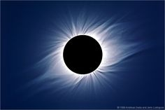 One of the most spectacular sights in all of nature is the corona during a total solar eclipse. The corona is the sun's atmosphere. It actually extends far out into the solar system, well past the Earth.