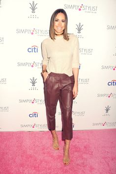 Louise Roe attends Simply Stylist Do What You Love Fashion  #leatherpants