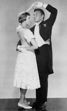 Julie Andrews and Christopher Plummer in a promotional still, featuring the Laendler, in The Sound of Music 1965.