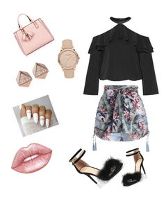 """Untitled #4"" by dashyascott ❤ liked on Polyvore featuring Zimmermann, Alice + Olivia, FOSSIL, Burberry and Lime Crime"
