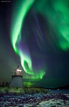 Aurora Borealis over Lighthouse, Skittenelv, Norway – Amazing Pictures - Plan Your Trip with UKKA.co. Find the Place, do booking Flight, Reserve the Hotel on UKKA.co Free Online Travel Planner