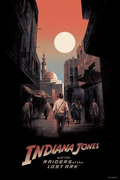 Indiana Jones and the Raiders of the Lost Ark Poster - Hans Woody 80s Movie Posters, Cinema Posters, Movie Poster Art, Cool Posters, Poster Series, Custom Posters, Films Récents, Harison Ford, Henry Jones Jr