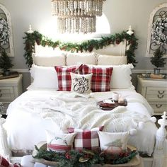 40 awesome bedroom christmas decorations ideas 28 - How To Decorate Your Bedroom For Christmas