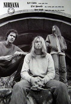 Nirvana with Chad Channing Rock Vintage, Poster Wall, Poster Prints, Rock Band Posters, Vintage Music Posters, Blues Rock, Music Artists, Album Covers, Beautiful