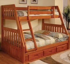 Bunk bed twin over twin end ladder white trundle bunk for Furniture hermiston or