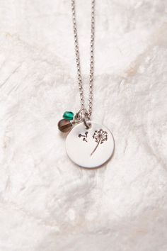 Dandelion Necklace Dandelion Wish Necklace Hand by therhouse, $28.00