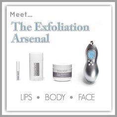 Exfoliation: out with the old and in with the new. With ENHANCEMENTS Body Micro-Dermabrasion, Micro-Dermabrasion Paste, Lip Micro-Dermabrasion and the Macro-E tool Rodan + Fields® has got you fully covered. Http://gennicholas.myrandf.com