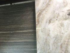 Hall bath floor tile and granite countertop (fantasy brown) Granite Kitchen, Granite Countertops, Fantasy Brown, Master Bath, Kitchen Remodel, Tile Floor, Hardwood Floors, New Homes, House Renovations