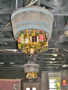 wine bottle chandelier | Wine Bottle Chandelier Photograph