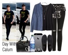 """""""Day With Calum"""" by the4dipshits ❤ liked on Polyvore featuring Topshop, H&M, Vans, Alexander Wang, NARS Cosmetics and ASOS"""
