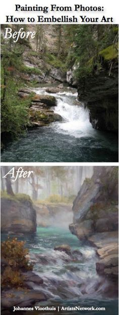 Using a Photo Reference for a Landscape Painting