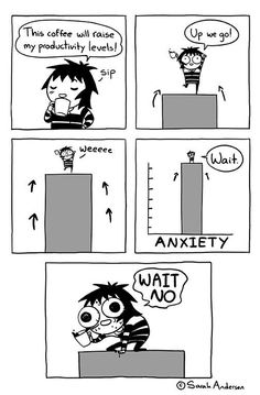 Sarah's Scribbles Sarah Andersen comics about anxiety and depression humor funny honest Sarah Anderson Comics, Sara Anderson, Cute Comics, Funny Comics, Sarah's Scribbles, 4 Panel Life, Funny Jokes, Hilarious, Funny Gifs