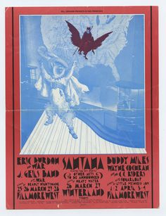 Bill Graham 275 Postcard Mailed 1971 Mar 25 Eric Burdon & The War Santana