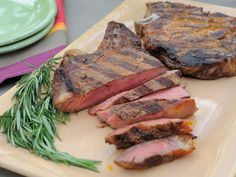 Sunny's Smoky Rosemary Grilled Steak recipe from Sunny Anderson via Food Network