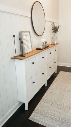 Ikea Shoe Cabinet, Ikea Shoe Storage, Shoe Cabinets, Hallway Cabinet, Ikea Cabinets, Home Living Room, Living Room Decor, Dining Room, Apartment Decoration