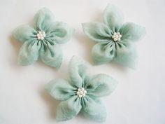 Mint Flowers Handmade Appliques Embellishments