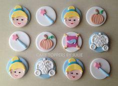 42 new ideas for cake fondant princess cupcake toppers Cinderella Cupcakes, Disney Princess Cupcakes, Princess Cupcake Toppers, Fondant Cake Toppers, Fondant Cupcakes, Cupcake Cakes, Princess Theme Cake, Castle Birthday Cakes, Cute Bakery
