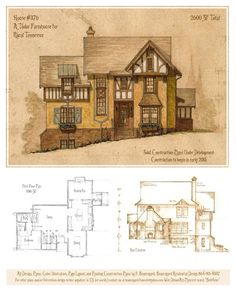 A storybook cottage design. Additional plans, elevations, details can be provided. Home design can be modified per client, and easily adapted to a specific site. I can provide everything needed to ...