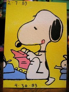 little snoopy painting by waltyablonsky