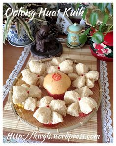 Oolong Tea Huat Kuih (茶香发糕) - steamed cake with Chinese Tea Flavour #guaishushu #kenneth_goh #oolong_tea_huat_kuih #茶香发糕