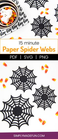 15 Minute Paper Spider Webs DIY