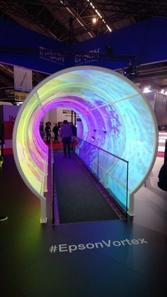 Epson Vortex tunnel Prop Design, Booth Design, Event Management Services, Winter Festival, Light And Space, Nightclub, New Shows, New Media, Pepsi