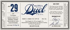 Duel cologne identity designed by Alex Harman