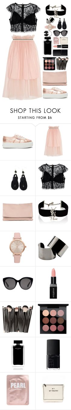 """""""Pink and Black"""" by gicreazioni ❤ liked on Polyvore featuring Superga, Mother of Pearl, Nasty Gal, Sole Society, Yves Saint Laurent, Vivani, Maison Margiela, Gucci, Smashbox and MAC Cosmetics"""