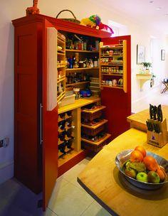 Freestanding Larder I need this! Kitchen Larder Cupboard, Larder Unit, Kitchen Cupboard Designs, Kitchen Designs Photos, Bedroom Cupboard Designs, Kitchen Shelves, New Kitchen, Kitchen Storage, Kitchen Ideas