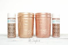 Lets talk rose gold spray paint colors! Valspar has a new rose gold color out. I lost the cap. Its about the same color as the Krylon cap. Rose Gold Painting, Gold Acrylic Paint, Spray Paint Colors, Gold Spray Paint, Copper Paint, Rose Gold Decor, Copper Rose, Painted Mason Jars, Mason Jar Crafts