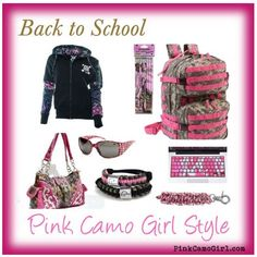 Back to School Style the Pink Camo Girl way!
