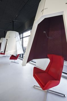 Image 3 of 13 from gallery of Médiathèque du Bourget / Randja - Farid Azib Architects. Photograph by Luc Boegly System Furniture, Contract Furniture, Space Furniture, Office Furniture, Furniture Design, Workplace Design, Corporate Design, Writing Kids Books, Open Office