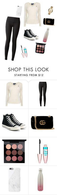 """Untitled #11"" by vivianmarcus ❤ liked on Polyvore featuring Polo Ralph Lauren, lululemon, Converse, Gucci, Maybelline, S'well and Michael Kors"
