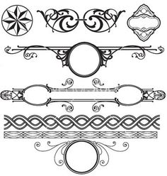 Decoration elements pack vector