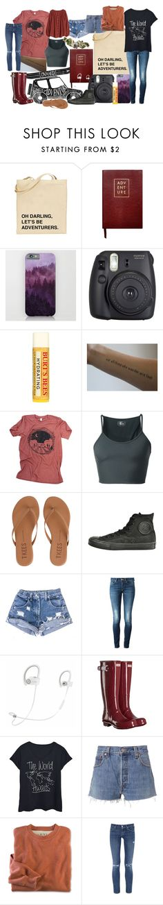 """""""Adventure awaits us🌍🌎🌏"""" by freedom2095 ❤ liked on Polyvore featuring Sloane Stationery, Fuji, Burt's Bees, Lost & Found, ...Lost, Tkees, Converse, Dondup, Beats by Dr. Dre and Hunter"""