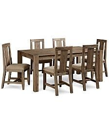 Canyon 7 Piece Dining Set, Only at Macy's, (Table and 6 Side Chairs)