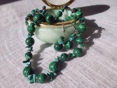 Malachite and turquoise 45€ More on http://nakitkamala.wix.com/europe