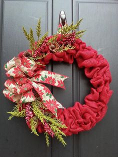 Guirnalda de flores arpillera la Navidad guirnalda de por Toshani
