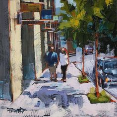 """Oak Street, Hood River Oregon"" - Original Fine Art for Sale - © Cathleen Rehfeld"