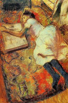 Degas - Reading, 1889