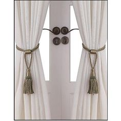 Essential Home Rope Tie Backs Set of 2 - Taupe