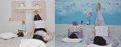 Antes e Depois do painel da cama.